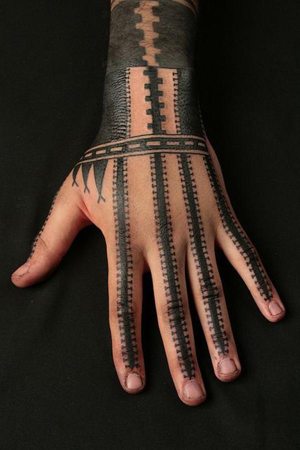 Samoan inspired hand tatau