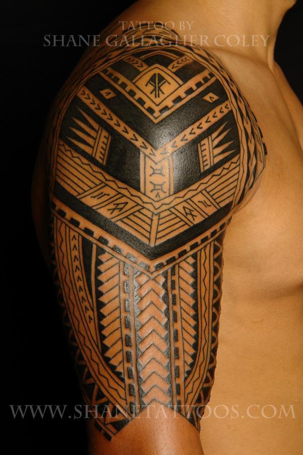 Sleeve Samoan Tattoo for men