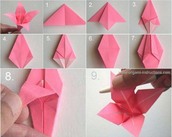 Pin by Shane Atwell on origami | Origami flowers instructions ... | 477x600