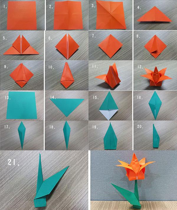How to Fold a Paper Rose (with Pictures) - wikiHow | 711x600