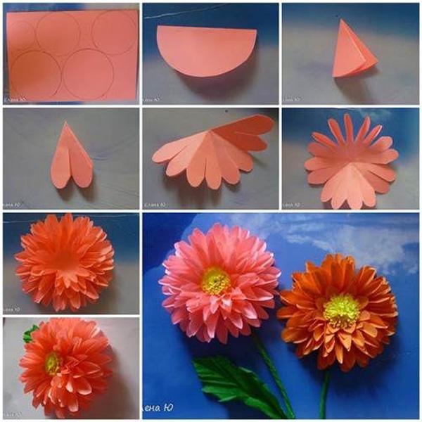 How to make paper flower origami geccetackletarts how mightylinksfo