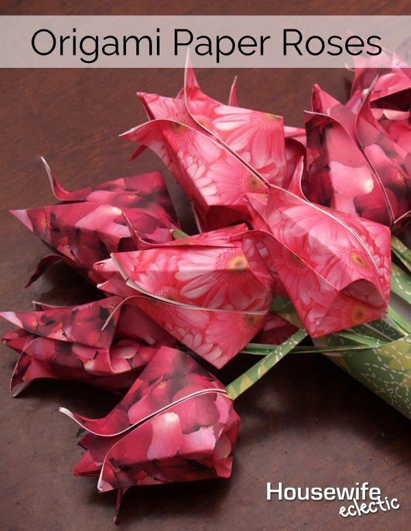 tutorial origami rose cube #origamirose | Origami rose, Origami ... | 775x600