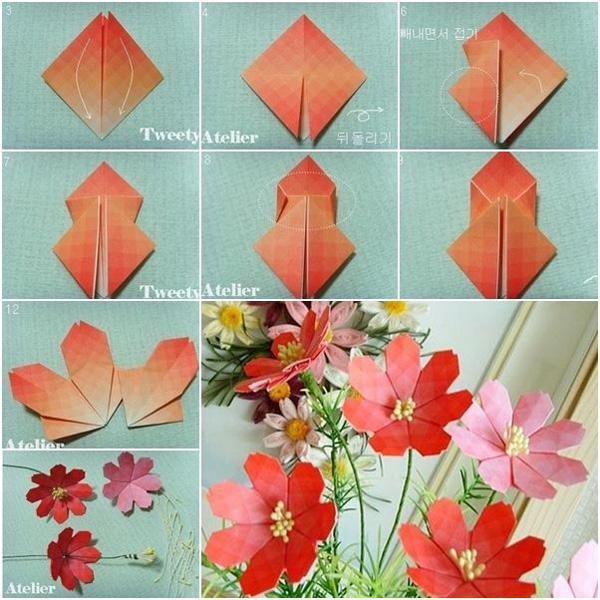 DIY Paper Flower Tutorial step by step - Beautiful Origami Lotus ... | 600x600