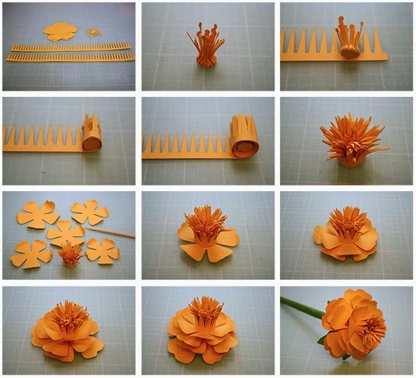 How to Make a Paper Flower | Origami Flower Tutorial Very Easy but ... | 546x600