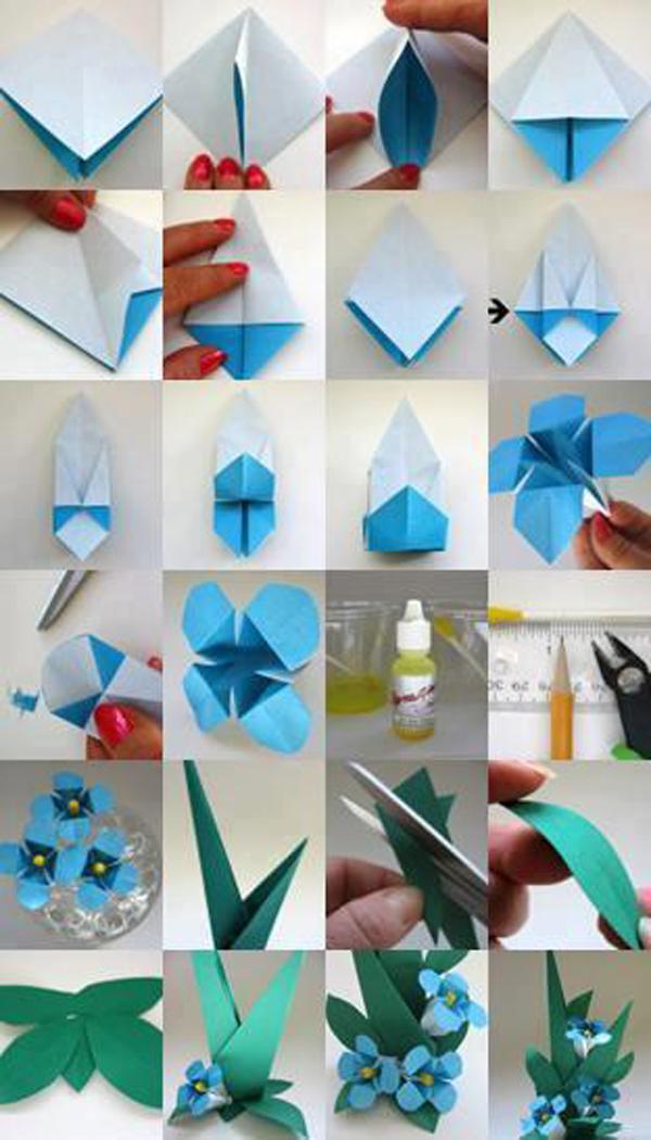 DIY Paper Origami Lily Vintage Wedding Corsages & Boutonnières ... | 1050x600