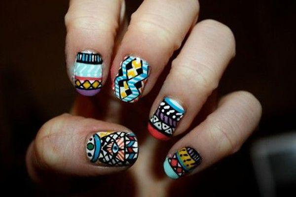 tribal nails-1