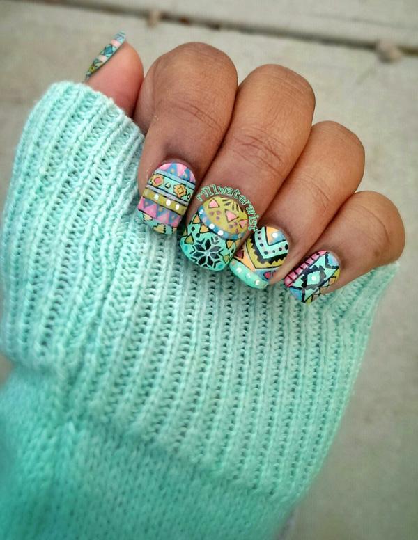 tribal nails-37