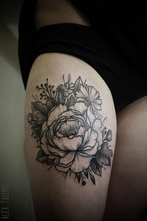 c39c85e4fa4c6 Peony tattoo - 50 Peony Tattoo Designs and Meanings ...