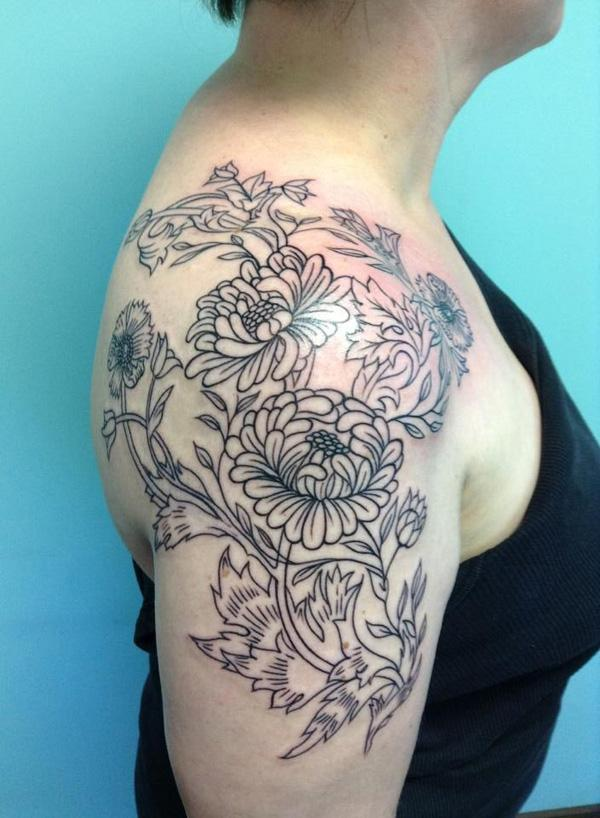 12 Peony tattoo