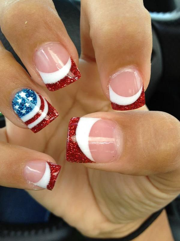 13 Flag French Manicure