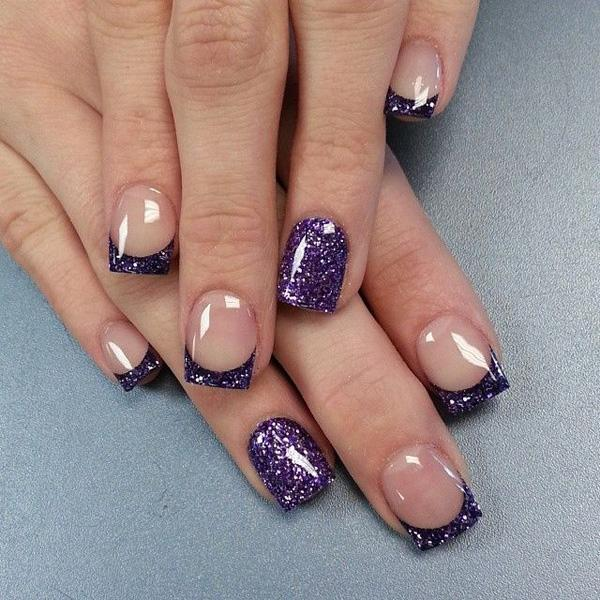 14 Purple French Manicure