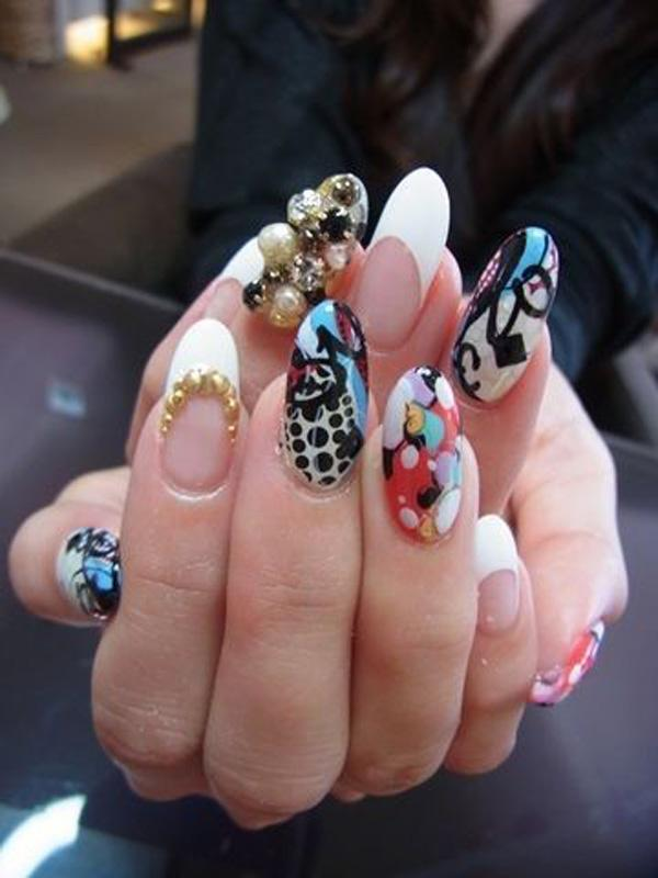 65 japanese nail art designs art and design funky is in these days and how funk can you get than these nails prinsesfo Image collections
