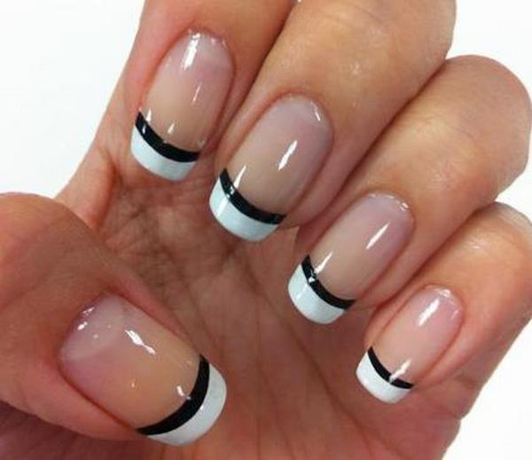 Perfectly Shaped White French Tips The Nails Are Coated With Clear Polish As Base And