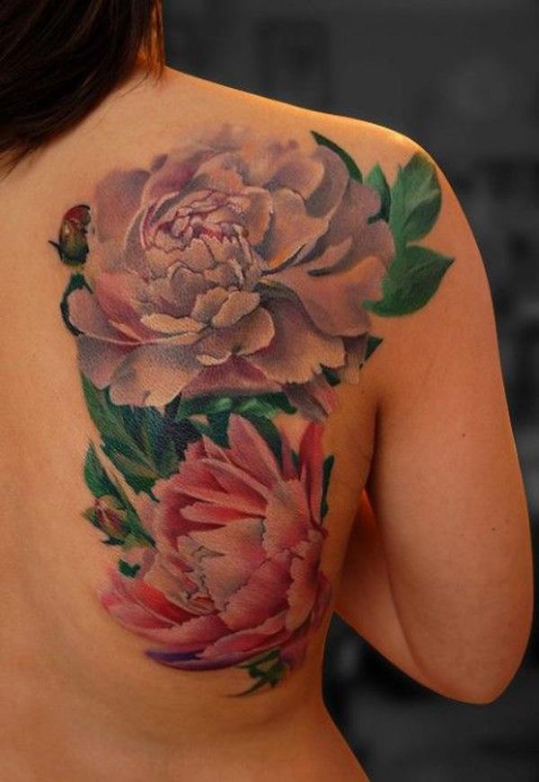 21 Peony tattoo