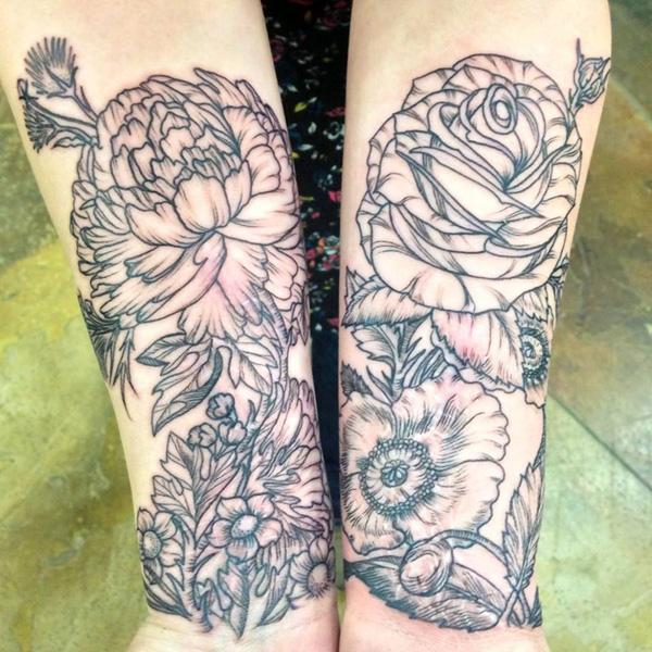 27 Peony tattoo
