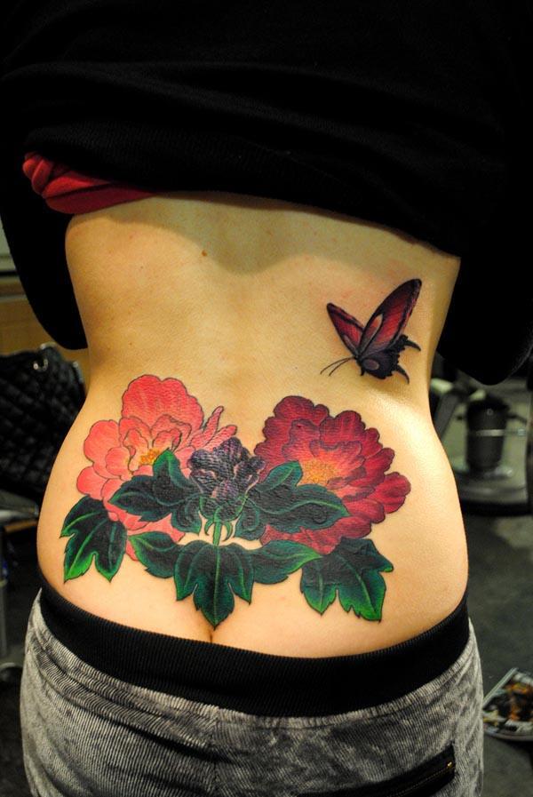 28 Peony tattoo