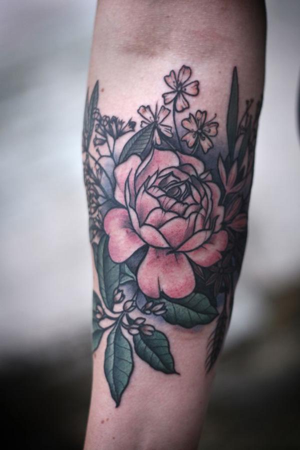 3 Peony tattoo