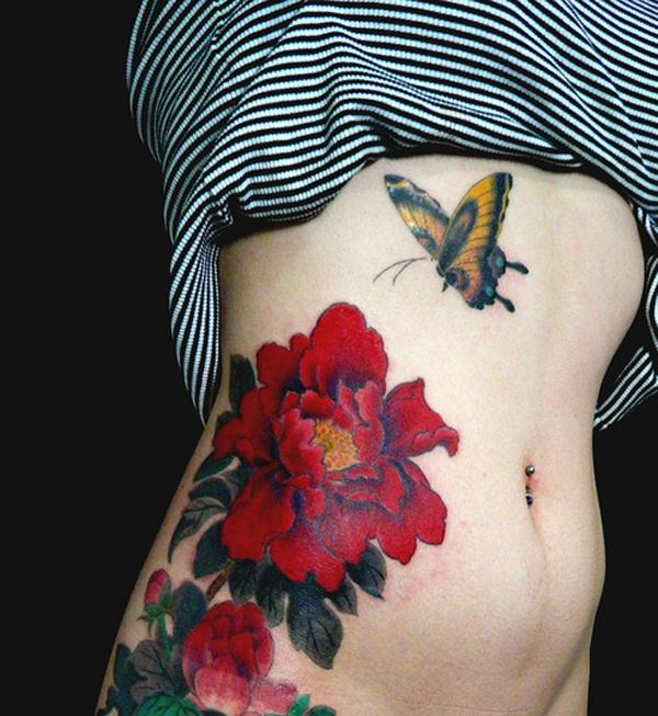 30 Peony tattoo