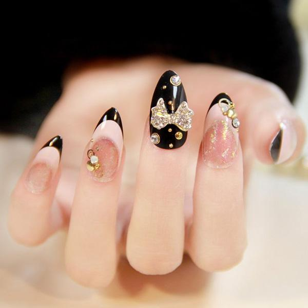 When they talk about nails with attitude, this is probably the epitome of  such. - 65 Japanese Nail Art Designs Art And Design