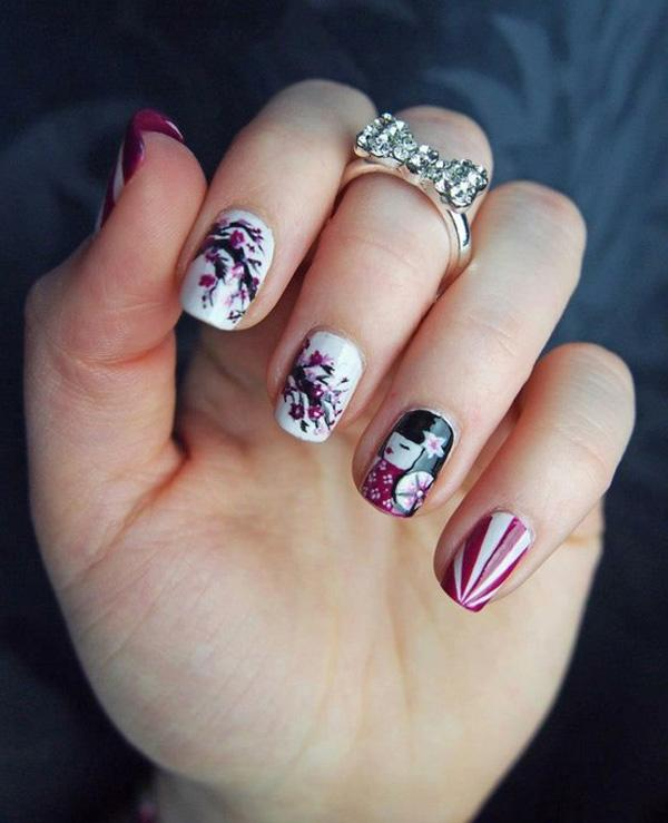 Many people think Nail Art is only for longer nails but ... - 65 Japanese Nail Art Designs Art And Design