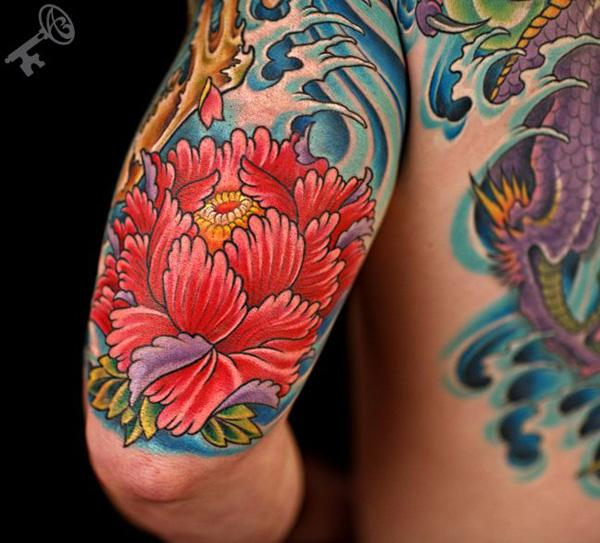 43 Peony tattoo
