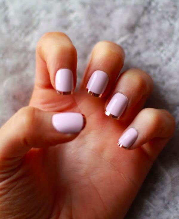 47 Generous French Manicure