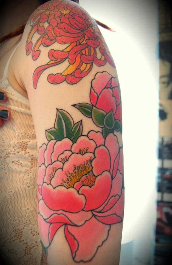 49 Peony tattoo