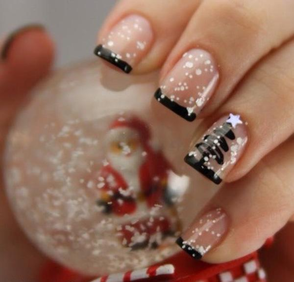 56 Christmas French Manicure