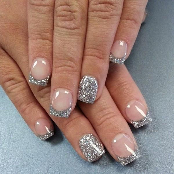 Glitter Galore Make A Statement With This Sparkly French Manicure That Uses Clear Polish