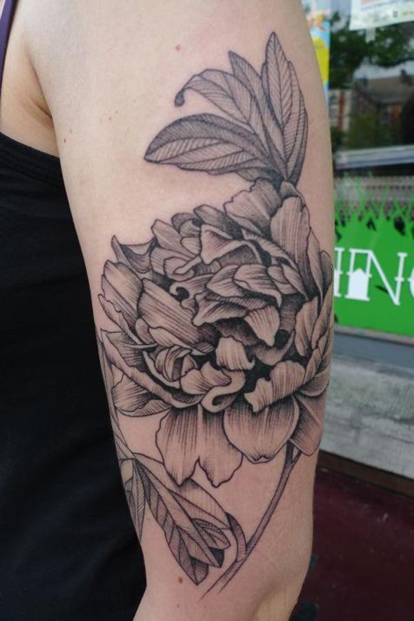8 Peony tattoo