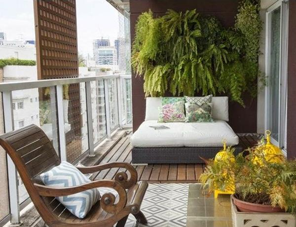 Place A Comfy Bed On Your Balcony Because Why Not Add Greenery With Help From