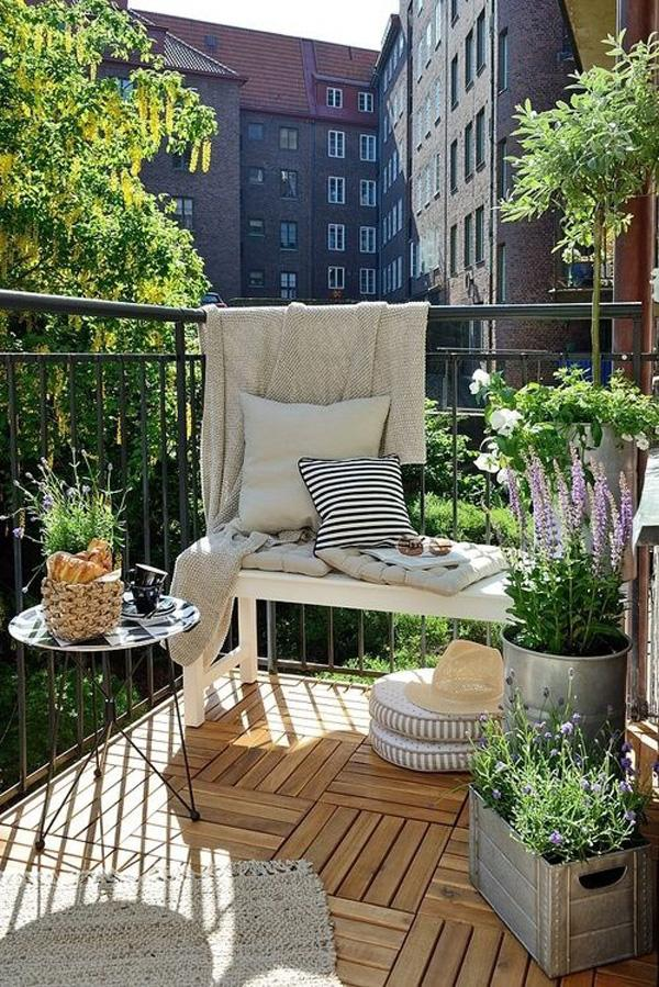 make the most out of your balcony by adding simple yet multi functioning furniture - Apartment Patio