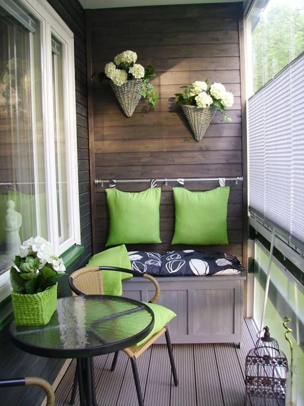Lovely Make use of all the spaces in your balcony by providing hanging ornaments such as flowers