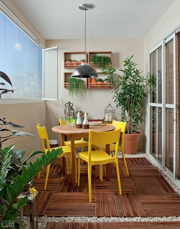 Beautiful decorating a small balcony photos interior for Apartment design with terrace