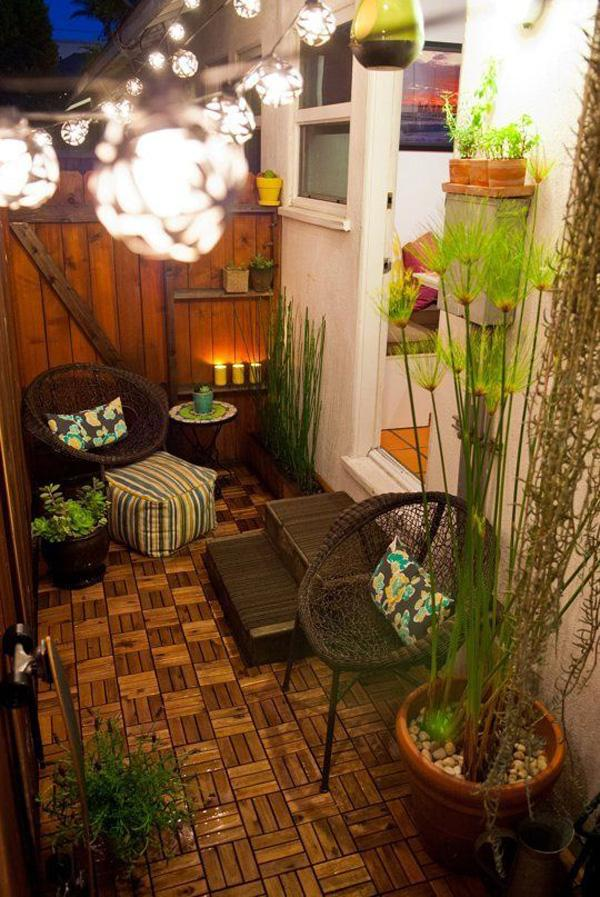55 apartment balcony decorating ideas art and design for Small garden decoration