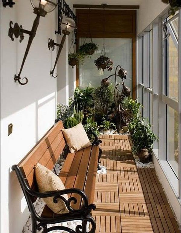 55 apartment balcony decorating ideas art and design for Apartment balcony floor covering