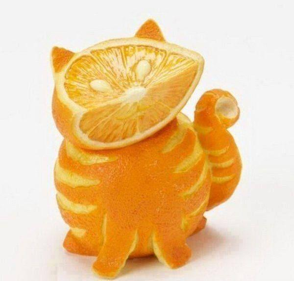Cute Cat Fruit and Vegetable Carving