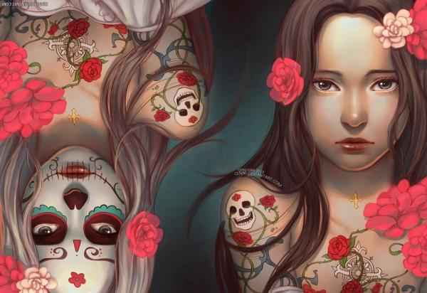 Dia De Los Muertos Day Of The Dead by Qinni