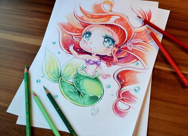 Disney Chibi Ariel By Lighane