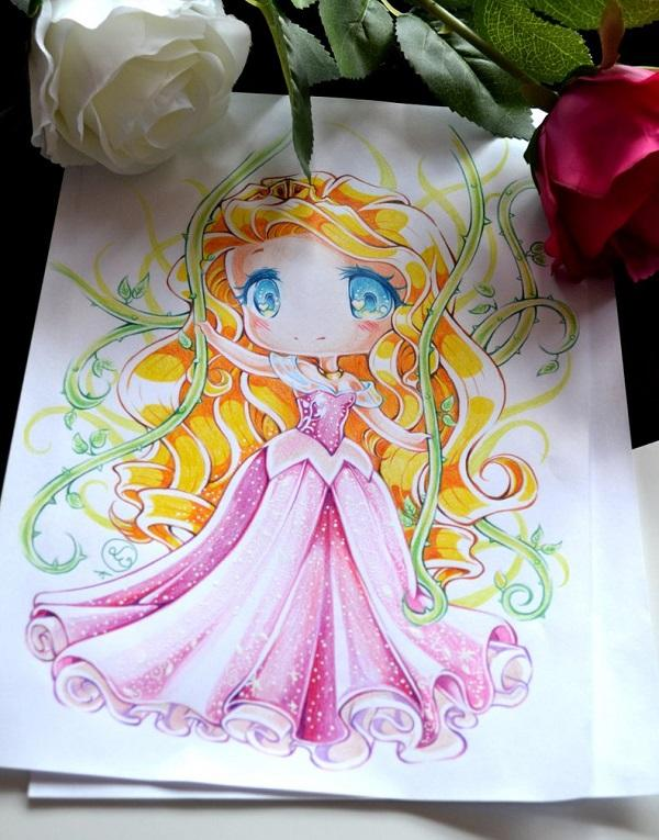 Disney Chibi Princess Aurora by Lighane