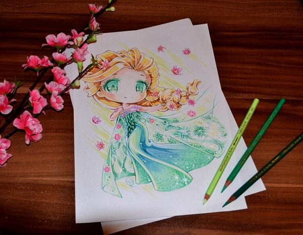 Disney Chibi Queen Elsa By Lighane