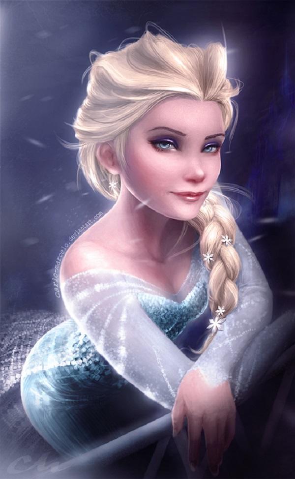 Disney Elsa Frozen by Carlo Marcelo