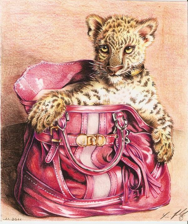 Leopard In A Guess Bag By Lighane