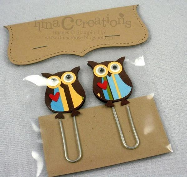 Owl Large Paper Clips