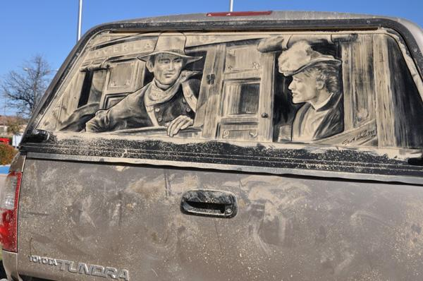 Dirty Car Art By Scott Wade Art And Design - Scott wade makes wonderful art dusty car windows