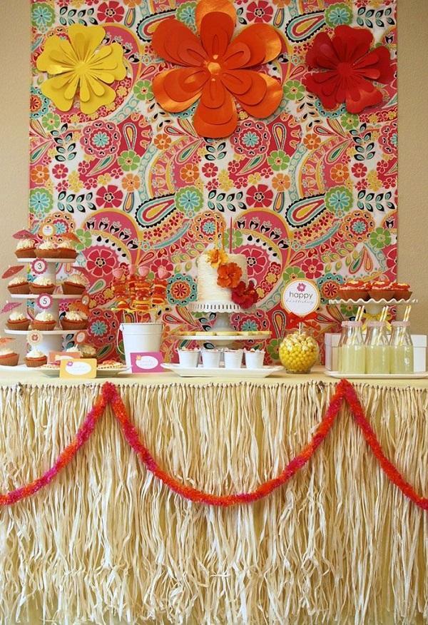 Summer Birthday Party For Girls_DIY Aloha Summer Dessert Buffet