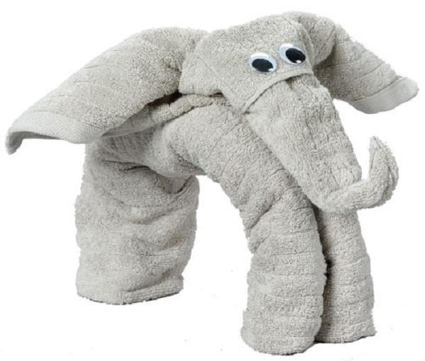Towel Origami - elephant