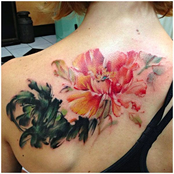 Watercolor style tattoos are gorgeous