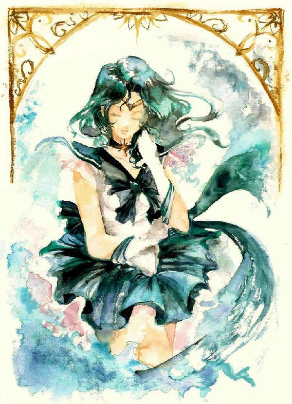 Washed out and playing with the shades of green. An awesome piece by Spelarminlind.Green is what represents Sailor Neptune and having all these shades come together to create her is simply amazing.