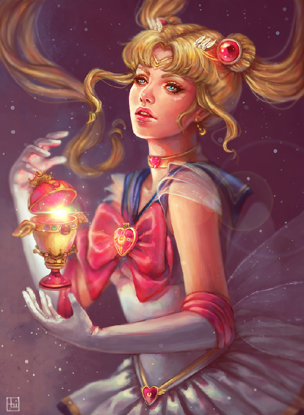 If Sailor Moon had an almost 3D version then this one would take the cake. A fantastic art by Majesteux that has an overall feeling of content and perfection.